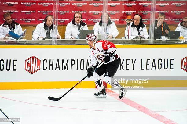 Matt D'Agostini of Geneve Servette during the Champions Hockey League round of 16 second leg game between SaiPa Lappeenranta and Geneve-Servette at...