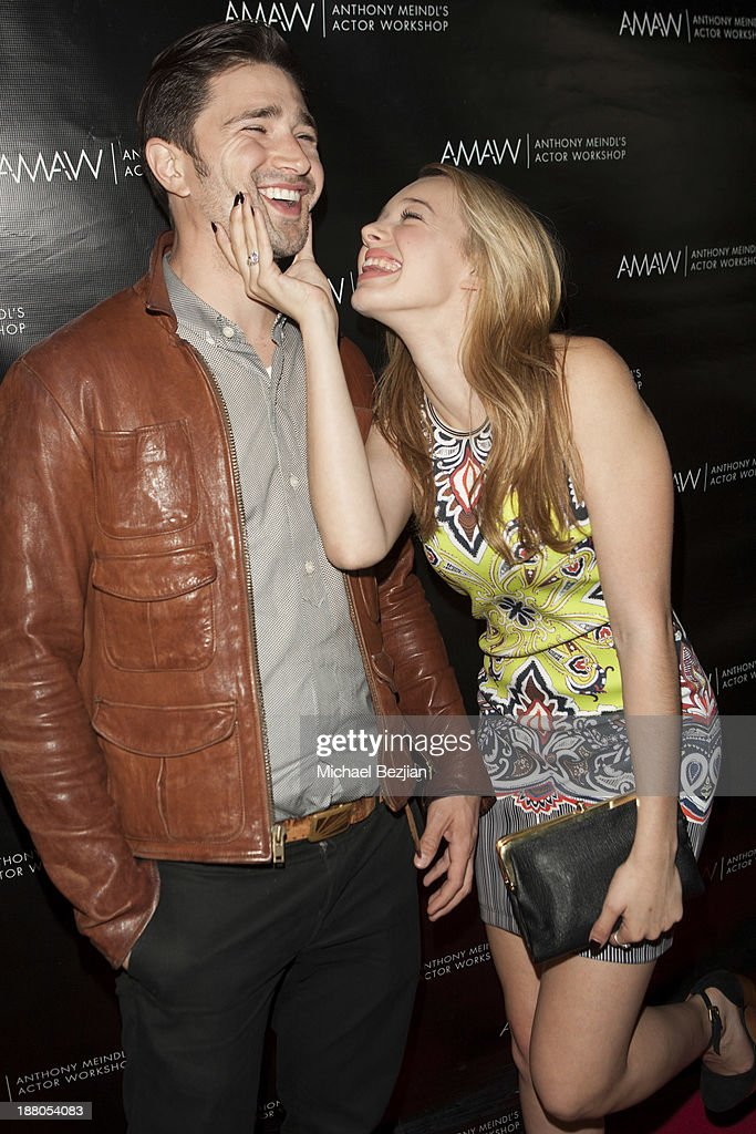 Matt Dallas and Sadie Calvano attend Alphabet Soup For Grown-Ups Book Launch Party at Bugatta on November 14, 2013 in Los Angeles, California.