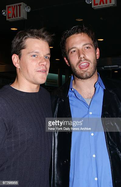 Matt Damon and Ben Affleck executive producers of the new HBO documentary series Project Greenlight are on hand for the show's premiere at the...