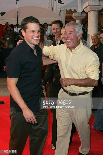 Matt Damon and father Kent Damon during 30th Deauville American Film Festival The Bourne Supremacy Premiere Arrivals at CID in Deauville France