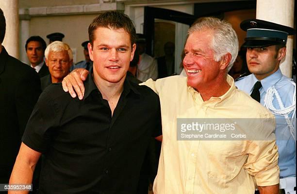 Matt Damon and his father Kent Damon attend The Bourne Supremacy premiere at the 30th American Deauville Film Festival