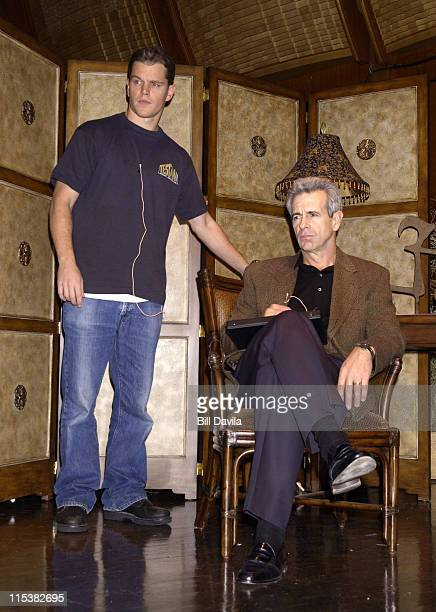 Matt Damon and James Naughton during OneNight Only Concert Performance of 'The World of Nick Adams' to Benefit Paul Newman's The Hole in Wall Gang...
