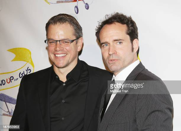 Matt Damon and Jason Patric arrive at the 'Stand Up For Gus' benefit event held at Bootsy Bellows on November 13 2013 in West Hollywood California