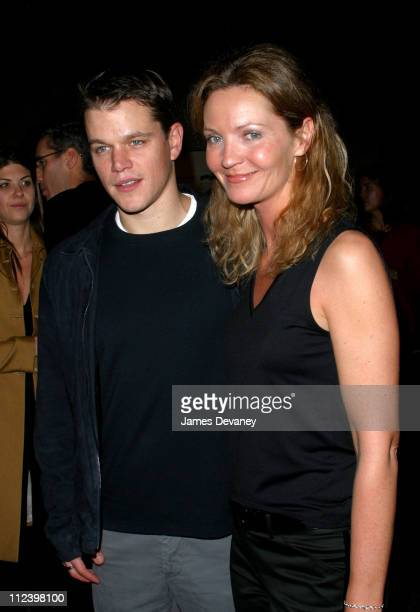Matt Damon and Joan Allen during 'Pulse A Stomp Odyssey' World Premiere at The American Museum of Natural History in New York City New York United...