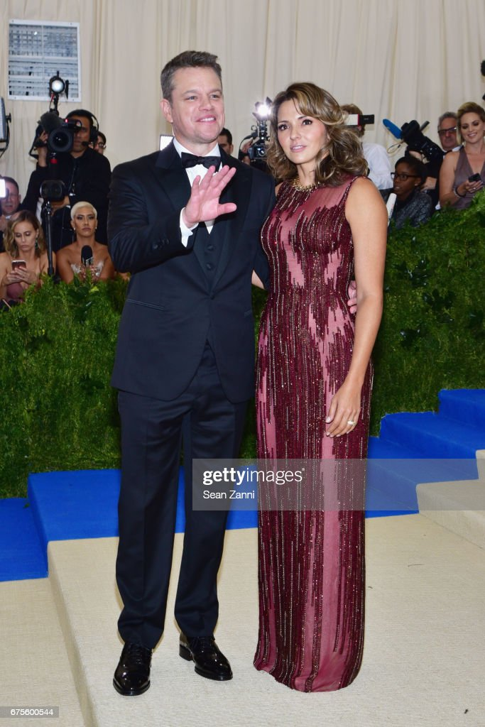 Matt Damon and Luciana Damon arrive at 'Rei Kawakubo/Comme des Garcons: Art Of The In-Between' Costume Institute Gala at The Metropolitan Museum on May 1, 2017 in New York City.