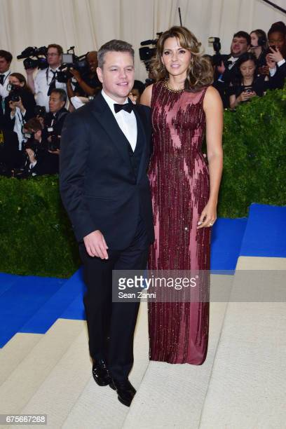 """Matt Damon and Luciana Damon arrive at """"Rei Kawakubo/Comme des Garcons: Art Of The In-Between"""" Costume Institute Gala at The Metropolitan Museum on..."""