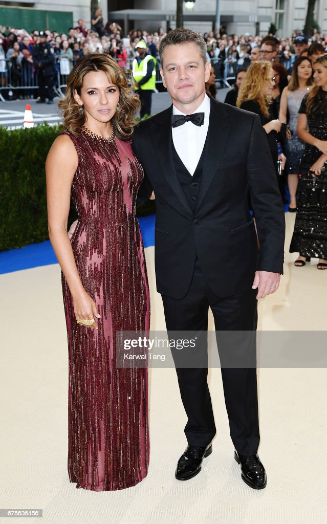 Matt Damon and Luciana Damon attend 'Rei Kawakubo/Comme des Garcons: Art Of The In-Between' Costume Institute Gala at Metropolitan Museum of Art on May 1, 2017 in New York City.