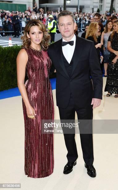 "Matt Damon and Luciana Damon attend ""Rei Kawakubo/Comme des Garcons: Art Of The In-Between"" Costume Institute Gala at Metropolitan Museum of Art on..."