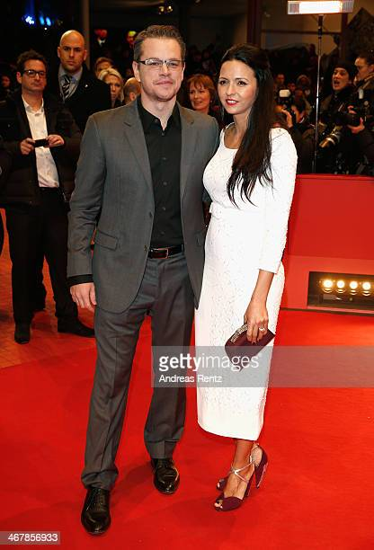 Matt Damon and Luciana Damon attend 'The Monuments Men' premiere during 64th Berlinale International Film Festival at Berlinale Palast on February 8,...