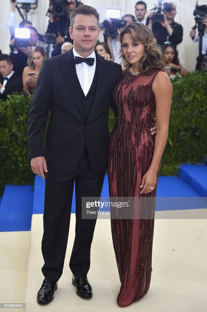 Matt Damon and Luciana Damon attend the 'Rei Kawakubo/Comme des Garcons: Art Of The In-Between' Costume Institute Gala at Metropolitan Museum of Art on May 1, 2017 in New York City.