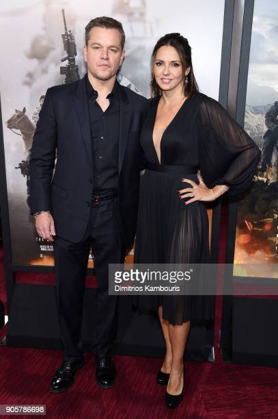 Matt Damon and Luciana Damon attend the world premiere of '12 Strong' at Jazz at Lincoln Center on January 16 2018 in New York City