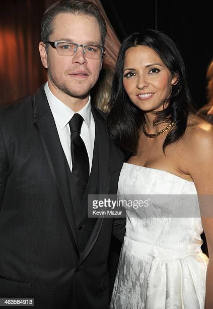 Matt Damon and Luciana Damon attends the 20th Annual Screen Actors Guild Awards at The Shrine Auditorium on January 18, 2014 in Los Angeles,...