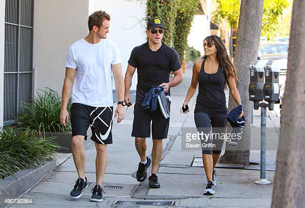 Matt Damon and Luciana Damon Damon are seen on September 30 2015 in Los Angeles California
