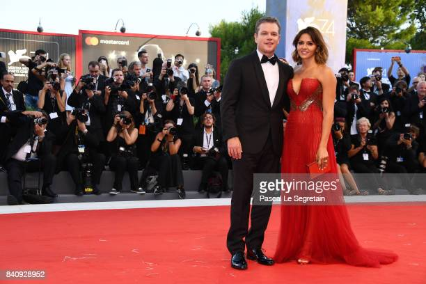 Matt Damon and Luciana Damon walk the red carpet ahead of the 'Downsizing' screening and Opening Ceremony during the 74th Venice Film Festival at...