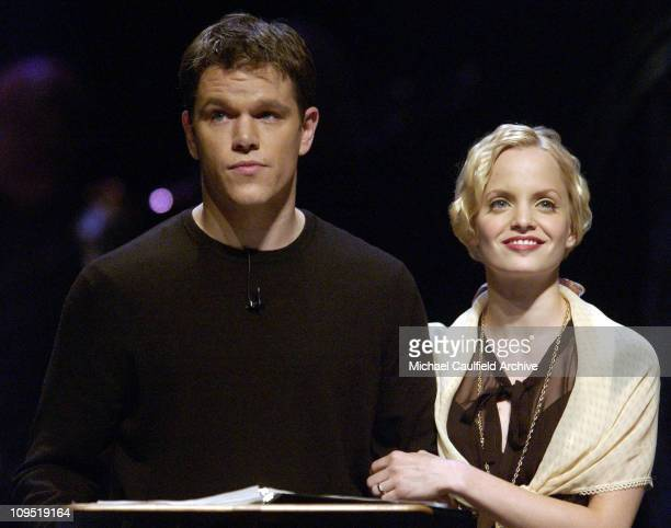 Matt Damon and Mena Suvari during AllStar Cast Performs The World of Nick Adams to Benefit The Hole in the Wall Gang Camps for Children Performance...