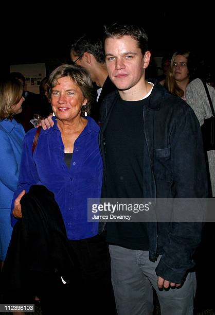 Matt Damon and mother Nancy CarlssonPaige attend the world premiere of Pulse A Stomp Odyssey