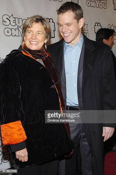 Matt Damon and mother Nancy Carlsson-Paige