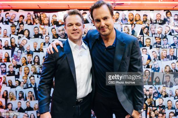 Matt Damon and Will Arnett backstage during 'The Late Late Show with James Corden' Thursday February 16 2017 On The CBS Television Network
