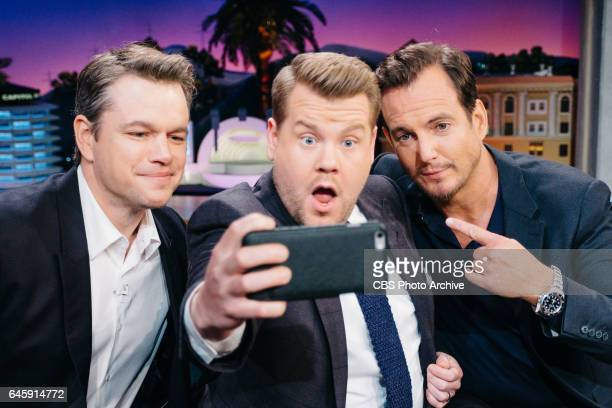Matt Damon and Will Arnett chat with James Corden during 'The Late Late Show with James Corden' Thursday February 16 2017 On The CBS Television...