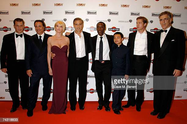 Matt Damon Andy Garcia Ellen Barkin George Clooney Don Cheadle guest Brad Pitt and Elliot Gould arrive the Martini Ocean's 13 After Party held at the...