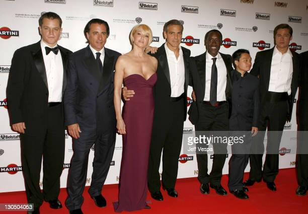 Matt Damon Andy Garcia Ellen Barkin George Clooney Don Cheadle Shaobo Qin and Brad Pitt