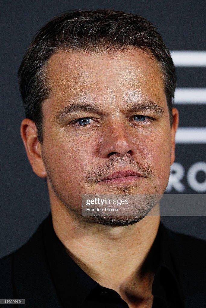 Matt Damon arrives for the 'Elysium' Australian premiere at Event Cinemas George Street on August 12, 2013 in Sydney, Australia.