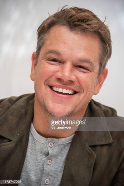 Matt Damon at the Ford v Ferrari Press Conference at the Fairmont Royal York on September 09 2019 in Toronto Canada