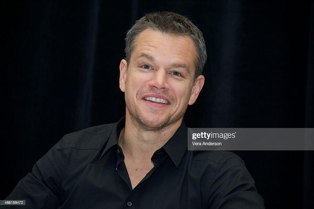 Matt Damon at 'The Martian' Press Conference at the Ritz Carlton on September 11, 2015 in Toronto, Ontario.