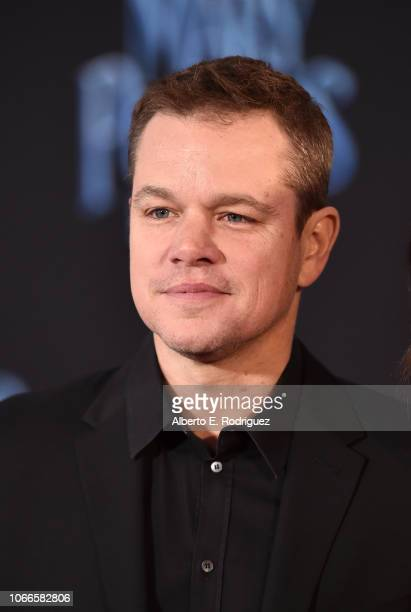 Matt Damon attends Disney's 'Mary Poppins Returns' World Premiere at the Dolby Theatre on November 29, 2018 in Hollywood, California.