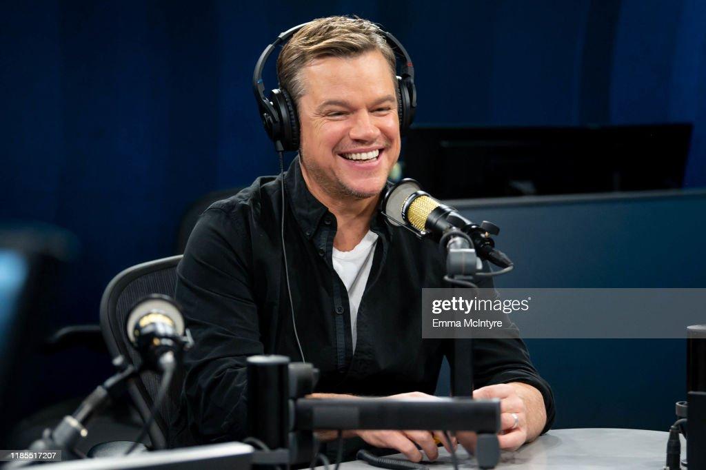Matt Damon Visits The SiriusXM Hollywood Studios in Los Angeles : News Photo