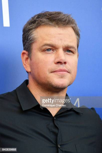Matt Damon attends the 'Downsizing' photocall during the 74th Venice Film Festival at Sala Casino on August 30 2017 in Venice Italy