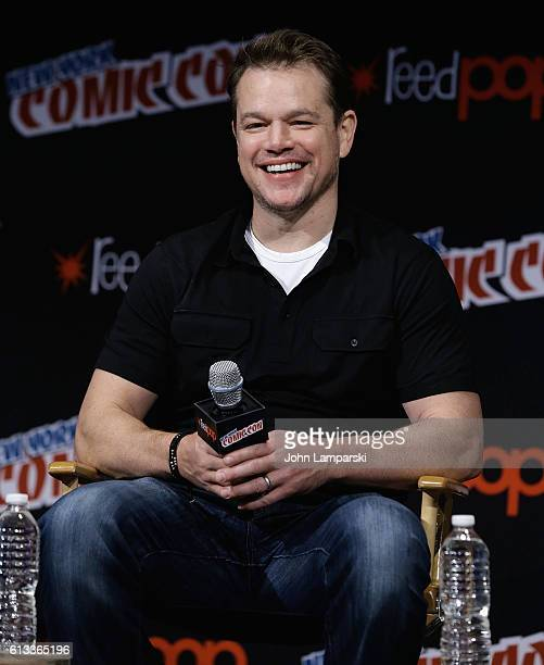 Matt Damon attends The Great Wall panel at the New York Comic Con day 3 on October 8 2016 in New York City