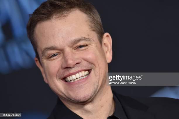 Matt Damon attends the premiere of Disney's 'Mary Poppins Returns' at El Capitan Theatre on November 29 2018 in Los Angeles California