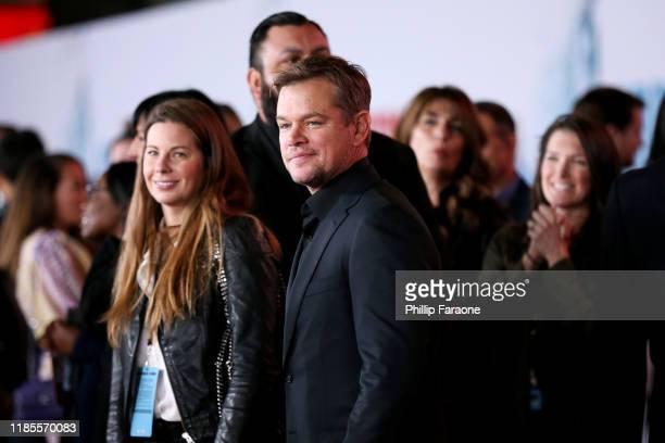 Matt Damon attends the premiere of FOX's Ford V Ferrari at TCL Chinese Theatre on November 04 2019 in Hollywood California