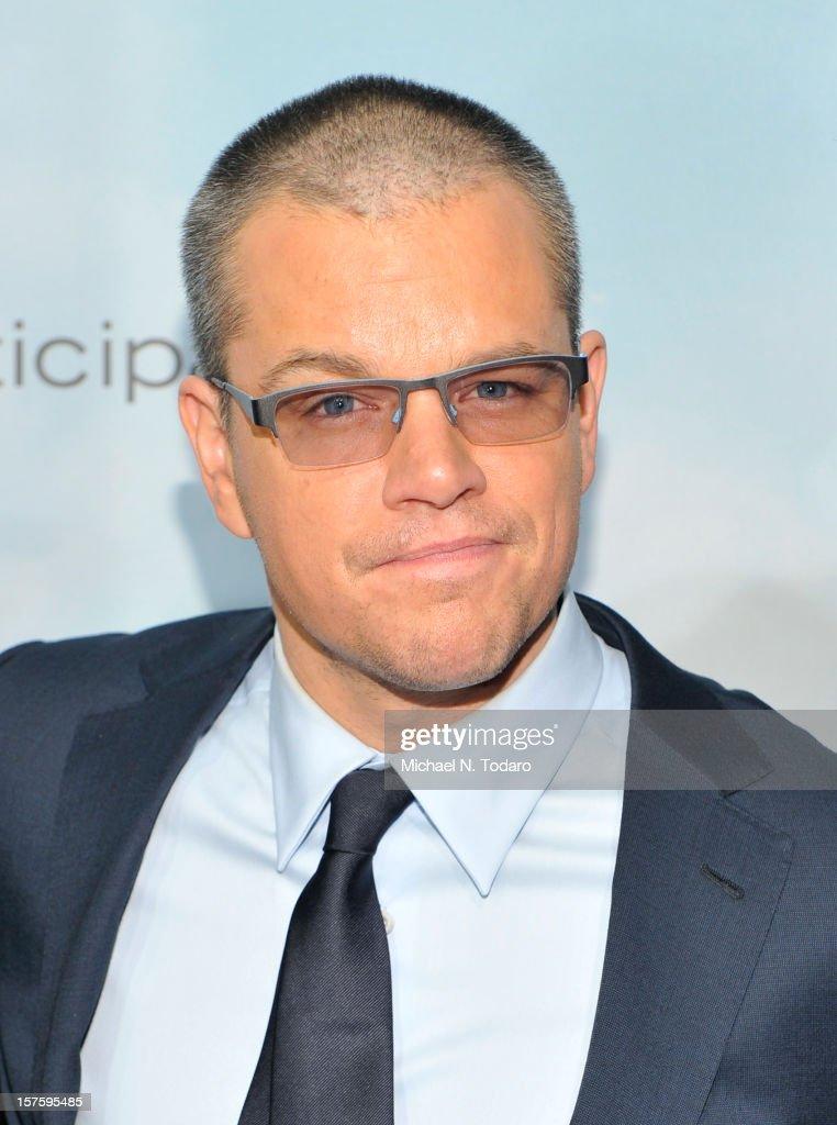 Matt Damon attends the 'Promised Land' premiere at AMC Loews Lincoln Square 13 on December 4, 2012 in New York City.