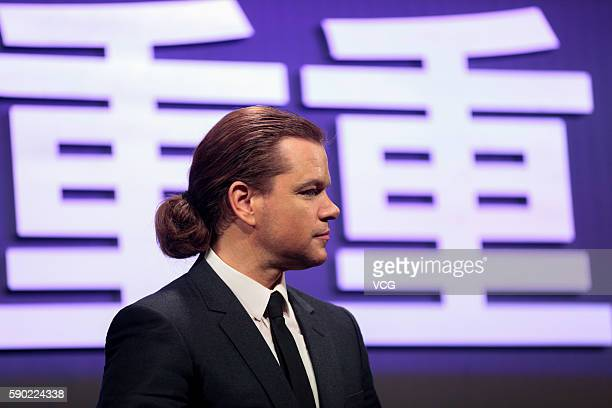 Matt Damon attends the red carpet during 'Jason Bourne' Press Conference at Phoenix Center on August 16 2016 in Beijing China