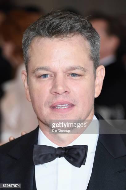 Matt Damon attends the 'Rei Kawakubo/Comme des Garcons Art Of The InBetween' Costume Institute Gala at Metropolitan Museum of Art on May 1 2017 in...