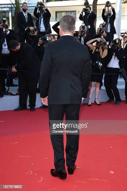 """Matt Damon attends the """"Stillwater"""" screening during the 74th annual Cannes Film Festival on July 08, 2021 in Cannes, France."""