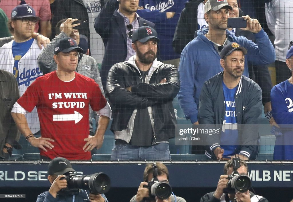 Celebrities At The Los Angeles Dodgers Game - World Series - Boston Red Sox v Los Angeles Dodgers - Game Five : News Photo