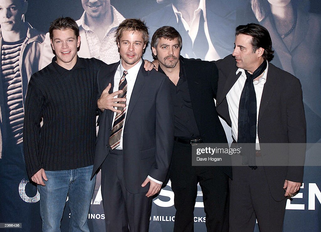 The re-make of 'Ocean's Eleven' premiered on 7 December 2001 starring George Clooney, Brad Pitt and Matt Damon