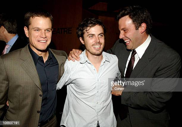 Matt Damon Casey Affleck and Ben Affleck during The Brothers Grimm Los Angeles Premiere After Party in Los Angeles California United States
