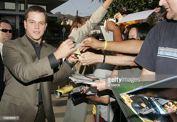 Matt Damon during The Brothers Grimm Los Angeles Premiere Arrivals at The Directors Guild of America in Los Angeles California United States