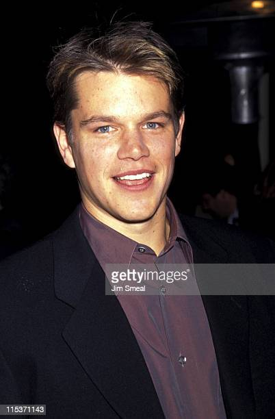 Matt Damon during The Rainmaker Premiere at Paramount Theatre in Hollywood California United States