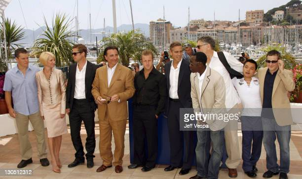 Matt Damon Ellen Barkin Brad Pitt Andy Garcia Scott Caan George Clooney Don Cheadle Elliott Gould Shaobo Qin and Eddie Jemison