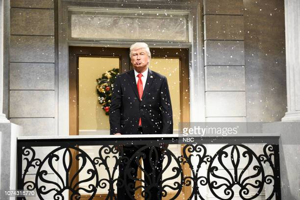 "LIVE Matt Damon Episode 1755 Pictured Alec Baldwin as Donald Trump during the ""It's a Wonderful Trump"" Cold Open in Studio 8H on Saturday December 15..."