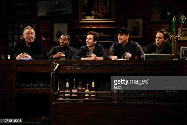 LIVE Matt Damon Episode 1755 Pictured Alec Baldwin as the captain Kenan Thompson as Carl Kyle Mooney as Paul host Matt Damon as Kelly and Beck...