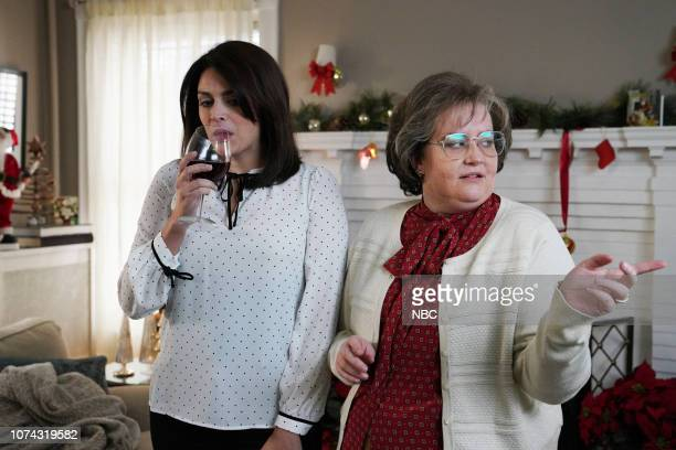 LIVE Matt Damon Episode 1755 Pictured Cecily Strong as the mom and Aidy Bryant as the motherinlaw during the Best Christmas Ever sketch on Saturday...