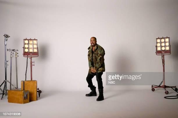LIVE 'Matt Damon' Episode 1755 Pictured Chris Redd as Kanye West during the 'Oscar Host Auditions' sketch on Saturday December 15 2018