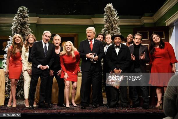 LIVE Matt Damon Episode 1755 Pictured Heidi Gardner as Hernia Trump Cecily Strong as Melania Trump Robert De Niro as Robert Mueller Beck Bennett as...