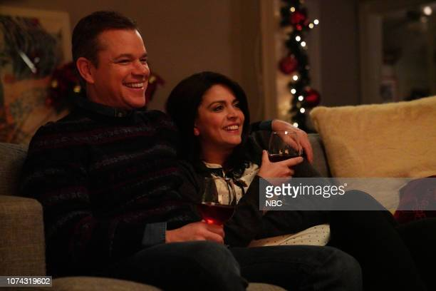 LIVE Matt Damon Episode 1755 Pictured Host Matt Damon as the dad and Cecily Strong as the mom during the Best Christmas Ever sketch on Saturday...